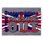 Congratulations on Passing Out Parade, Union Jack Card