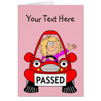 Congratulations on Passing Your Driving Test Card