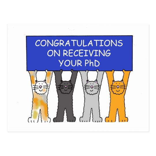 Congratulations on receiving your PhD. Postcard
