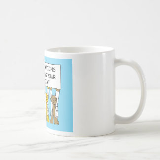 Congratulations on receiving your white coat. coffee mug
