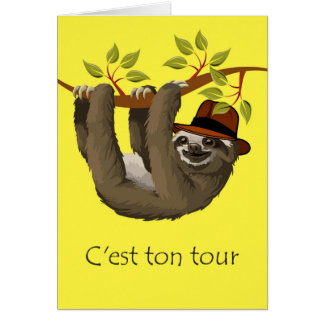 Congratulations on Retirement in French, Sloth Card