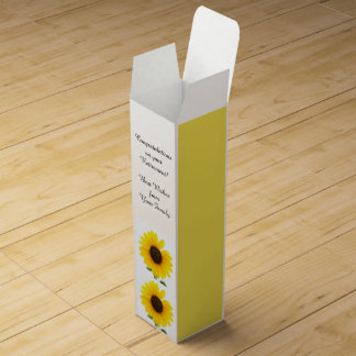 Congratulations on Retirement Sunflower Wine Box
