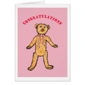Congratulations on the birth of your baby girl, greeting card