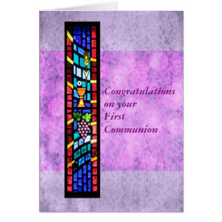 Congratulations on your 1st Communion Customizable Card