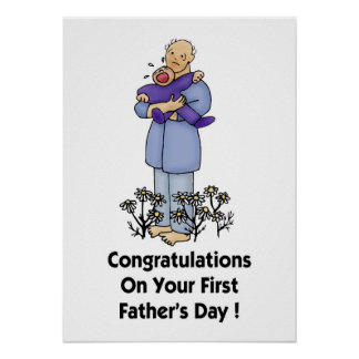 Congratulations on Your 1st Father's Day! Poster