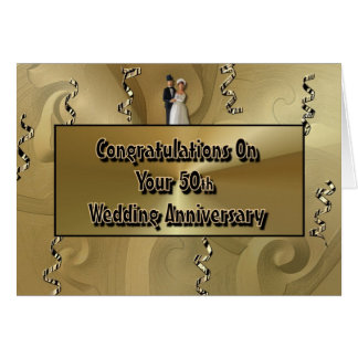 Congratulations On Your 50th Wedding Anniversary Card