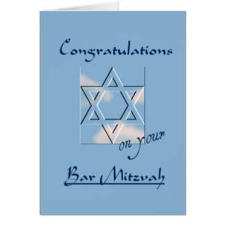 Congratulations on your Bar Mitzvah!-Blue Card