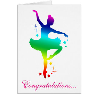 Congratulations on Your Dance Recital Card