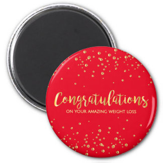Congratulations on Your Diet WeightLoss 2 Inch Round Magnet
