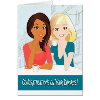 Congratulations on Your Divorce with Smiling Women Card