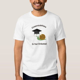 Congratulations on Your Graduation Snail Shirts