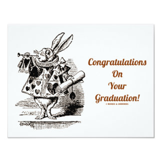 Congratulations On Your Graduation (White Rabbit) Card