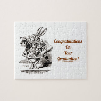 Congratulations On Your Graduation! (White Rabbit) Jigsaw Puzzle