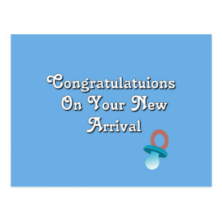 Congratulations On Your New Arrival Postcard