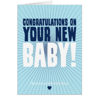 Congratulations on Your New Baby Stationery Note Card