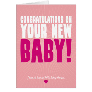 Congratulations on Your New Baby (female) Note Card