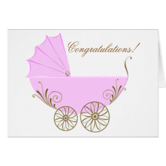 Congratulations on your new baby girl greeting car note card