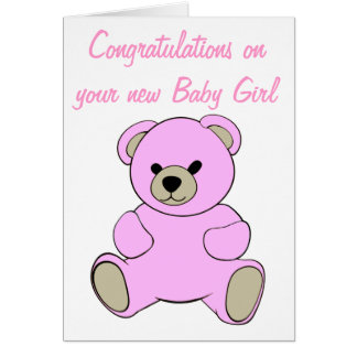 Congratulations on your new Baby Girl Greeting Card