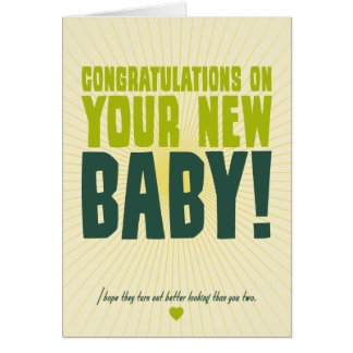 Congratulations on Your New Baby Note Card