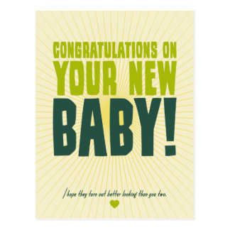 Congratulations on Your New Baby Postcard