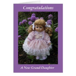 Congratulations on your new grand daughter card