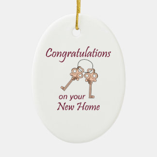 Congratulations On Your New Home Ceramic Oval Ornament