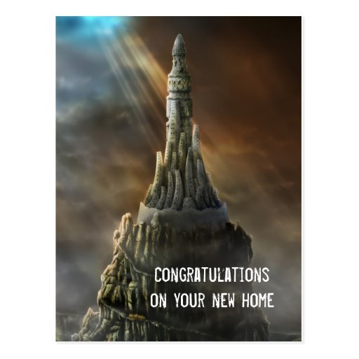 Congratulations on your new home - Postcard