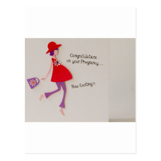 congratulations on your pregnancy! postcard
