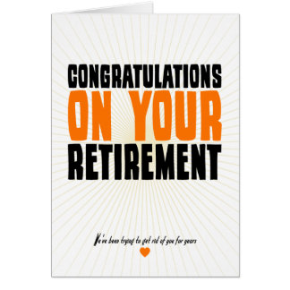 Congratulations on Your Retirement Note Card