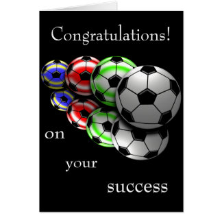 Congratulations on Your Success Soccer Card