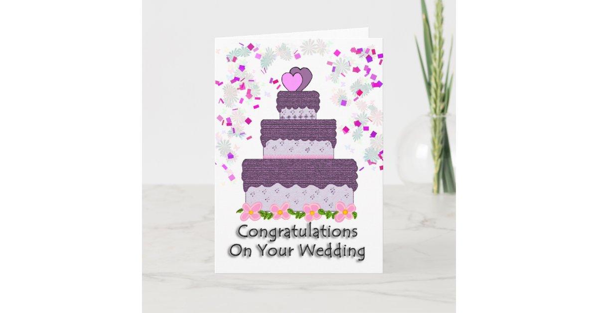 Congratulations On Your Wedding Card | Zazzle.ca