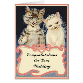 Congratulations On Your Wedding Vintage Cats Card