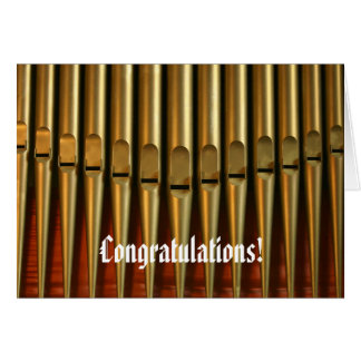 Congratulations organ card