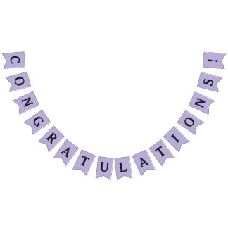 """Congratulations"" party bunting banner"