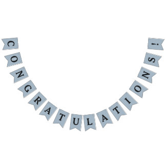 """""""Congratulations"""" party bunting banner"""