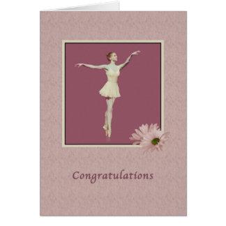 Congratulations, Performance, Ballerina On Pointe Card