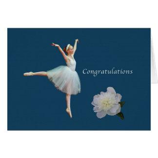 Congratulations, Recital, Ballerina, White Peony Card