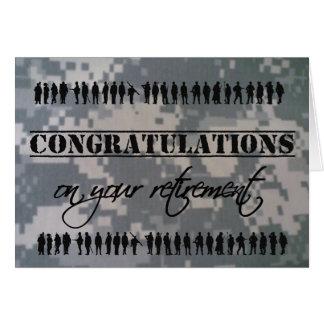 Congratulations Retirement Military Service Card