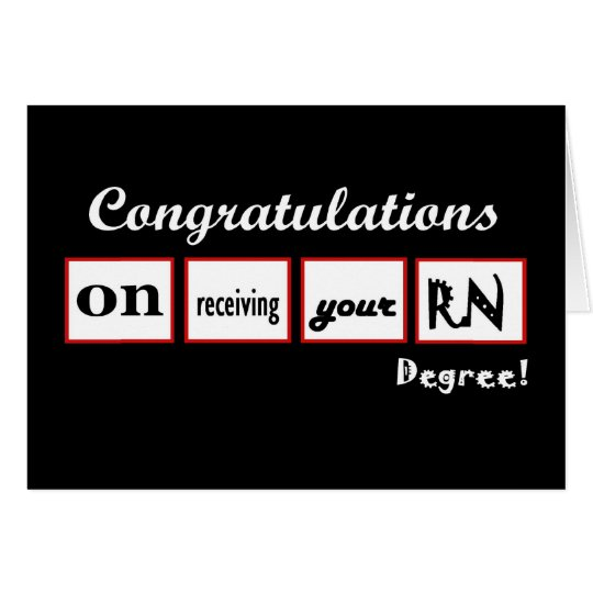 Congratulations RN - Custom Name with Squares Card