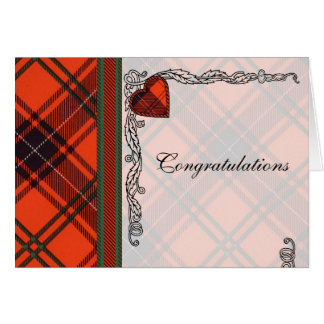 Congratulations - Scottish Tartan Wemyss Blank Card