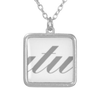 congratulations silver plated necklace