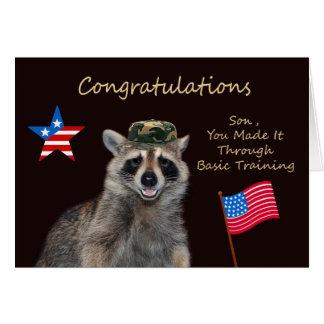 Congratulations Son, Basic Training Greeting Card