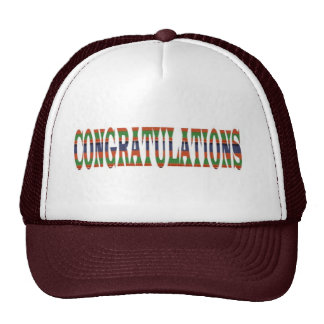 CONGRATULATIONS: Success, Excellence,Event, GIFTS Mesh Hats