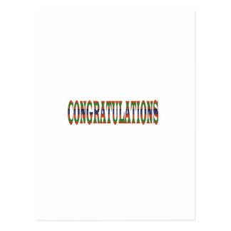 CONGRATULATIONS: Success, Excellence,Event, GIFTS Postcard