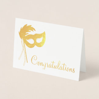 Congratulations Theatre Drama Club Theatrical Mask Foil Card