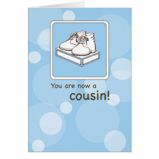 Congratulations to New Cousin, Baby Shoes Greeting Card