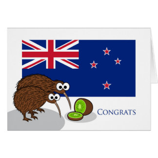 Congratulations to New Parents, Kiwi Birds & Fruit Card