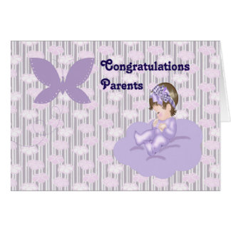 Congratulations to New Parents of Baby Girl Card