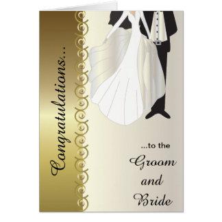Congratulations to the Groom & Bride Wedding Card