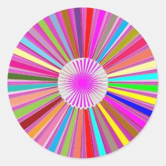 CONGRATULATIONS : Trophy and Sparkle Wheels Decor Round Sticker